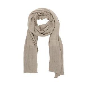 UMBERTO BILANCIONI Lux Knit Stole Scarf Beige 100% Silk Made in Italy