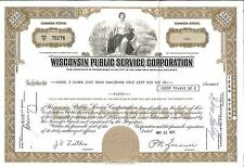Wisconsin Public Service > 1977 Milwaukee, Wisconsin old stock certificate share