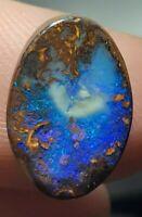 Magnifique opale koroit boulder 7.35 cts ovale cabochon
