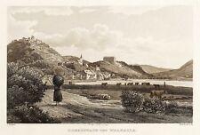 DONAUSTAUF - GESAMTANSICHT MIT WALHALLA - Duller - Stahlstich 1847