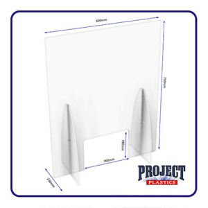 Protection Screen Guard Clear Perspex Acrylic Sneeze Guard Cough Till Guard