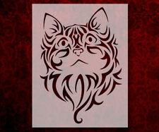 """Tribal Kitten Cat 8.5"""" x 11"""" Stencil FAST FREE SHIPPING (601)"""