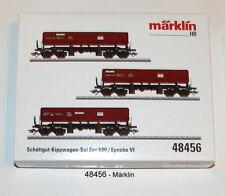 Märklin 48456 Wagon à bascule Deutsche FAS 680 de la NS 3 pièces #