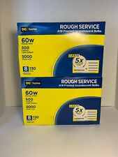 Lot of 16 100w A19 Frosted Incandescent Light Bulbs Rough Service Medium Base GE