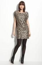 NEW VINCE Sequin Minidress DRESS Size M (8 - 10) $485 GOLD NORDSTROM