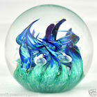 EXTRA LARGE SELKIRK Scottish 2004 Art Glass Paperweight SIGNED LABELLED #1471