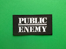 HEAVY METAL PUNK ROCK MUSIC SEW ON / IRON ON PATCH:- PUBLIC ENEMY USA HIP HOP