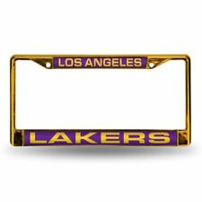 Los Angeles Lakers NBA Yellow Painted Metal Laser Cut License Plate Frame