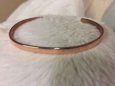 "Polished Copper Cuff Bracelet Thin 1/8"" Wide"
