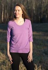 Women's Eco-friendly Scoop Neck Organic Cotton & Hemp Shirt|Hemp Clothing S-XXL