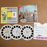 Vintage View-Master 3-Reel Set Vatican City Nations Series Complete Booklet A52