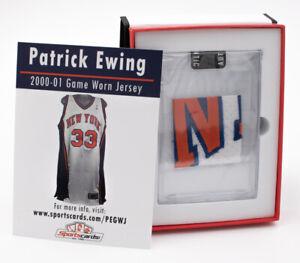 Patrick Ewing 2000-01 New York Knicks Game Worn Jersey Mystery Swatch Box #80928