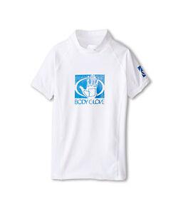 Body Glove Kids 12 White Basic Short Sleeve Rash Guard UV Shirt Youth Unisex