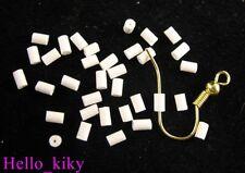 1000 pcs White Plastic earring back stoppers TUBE M641