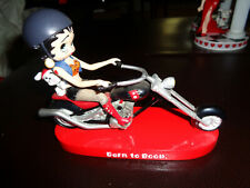 BETTY BOOP BORN TO BOOP MOTORCYCLE FIGURINES LOT WITH PUDGY 1997 & 2006