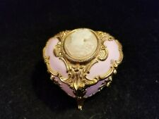The San Francisco Music Box Co pink & gold Cameo Heart music box