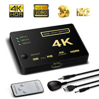 4K Ultra HD 3 Way HDMI Switch Splitter HDTV Auto 3 Port IN 1 OUT Control New Hot