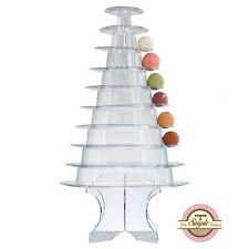 10 Tier Round Macaron Tower - Macaron Stand - Macaroon Tower w/ Acrylic Base