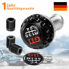 Schaltknauf 5 und 6 Gang Schaltsack für VW Golf I-VII polo 9N_ Silber Schwarz