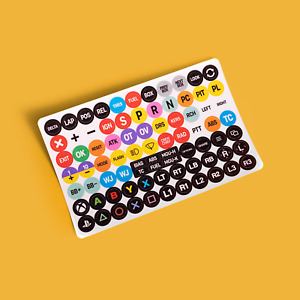 "Sim Decals 9mm Fanatec Wheel Button Stickers - iRacing 🏁 4x6"" Sticker Sheet"