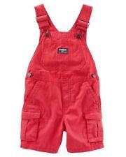 OSHKOSH BGOSH Infant Boys Red Canvas Shortalls NWT short...