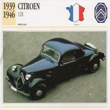 1939-1946 CITROEN 11B Classic Car Photograph / Information Maxi Card