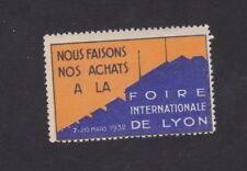 Ancienne vignette étiquette timbre France BN48029 Foire de Lyon 1932