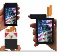 Statue Liberty American Flag Cigarette Case Lighter Box Holder Kings 100's