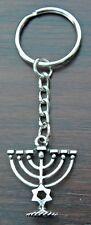 Menorah Charm Key Ring Keyring candelabrum Star of David Jew Judaism Hebrew