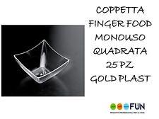 Finger Food Coppetta Vaschetta Mini quadrata trasparente 25pz Gold Plast 6006-21