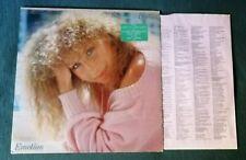BARBRA STREISAND : Emotion LP / INNERSLEEVE lyrics, Netherlands press CBS 86309