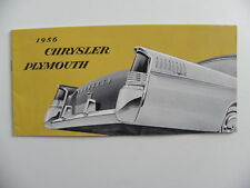Brochure CHRYSLER PLYMOUTH de 1956 en français
