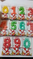 Funny Kids Birthday Candles Childrens Adults Cake Toppers Party Numbers Girl Boy