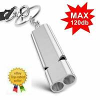 Alloy Aluminum Keychain SOS Emergency Survival Loud Whistle Camping Hiking Tools