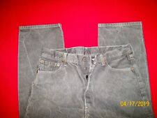 LT GRAY  LEVI'S  501   BUTTON FLY STRAIGHT LEG  (tag  38 x 30) = actual  36 x 28