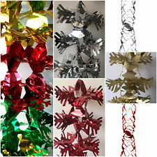 CHRISTMAS GARLANDS XMAS HANGING CEILING WALL TREE DECORATIONS COLOUR FOIL SWIRLS
