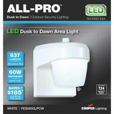 All-Pro White Dusk to Dawn LED Jelly Jar Light w/Photocell