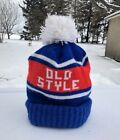 Vintage Old Style Beer Pom Ski Knit Hat Rare 70s 80s Cubs