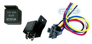 1 PIECE 50 AMP 12V BOSCH STYLE S RELAY & HARNESS SOCKET SPDT + 100% COPPER WIRES