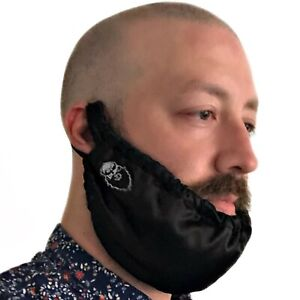 BEARD GAINS BIB BANDANA RAG NET COVER MENS FACIAL HAIR - SLEEP NIGHT SILK SATIN