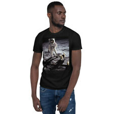 Neil Armstrong Buzz Aldrin Walking Dog on The Moon T-Shirt