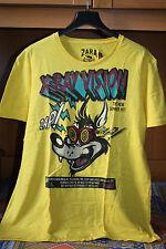 T-shirt maglietta fumetto comics x-ray gialla Zara taglia XL stampa divertente