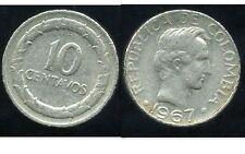 COLOMBIE 10 centavos   1967  ( bis )