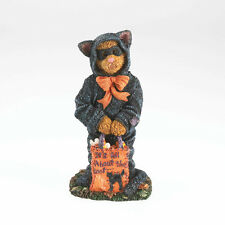 Boyds Bears 1E Halloween Bear in Cat Suit Bearstone Figurine ~ 4034151