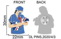 *NEW* NHS HEROES PIN/BADGE (DOCTOR/NURSE/PARAMEDICS)(10% TO NHS CHARITY)