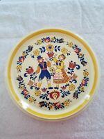 "MIKASA Country Store Courtship 10 3/4"" Dinner Plates Pennsylvania Dutch Set of 2"
