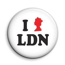 I Love London Queen Cute Funny Button Pin Badge - Novelty Gift 38mm/1.5 inch