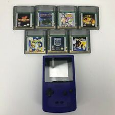 Nintendo Game Boy Color Handheld Console Grape Purple with 7 Games-Tested