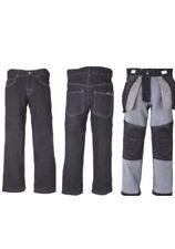 Boys Youth 5T Slim Fit Skate Park Denim Black Padded Jeans Skating Safety Pads