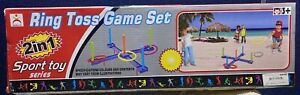2in1 Sport Toy Series Ring Toss Game Set New In Package Ages 3 And Up
